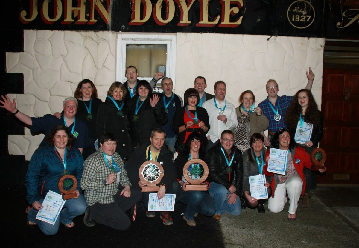 Ireland Ice Swimming Ice kilometre Awards ceremony 7/02/2015