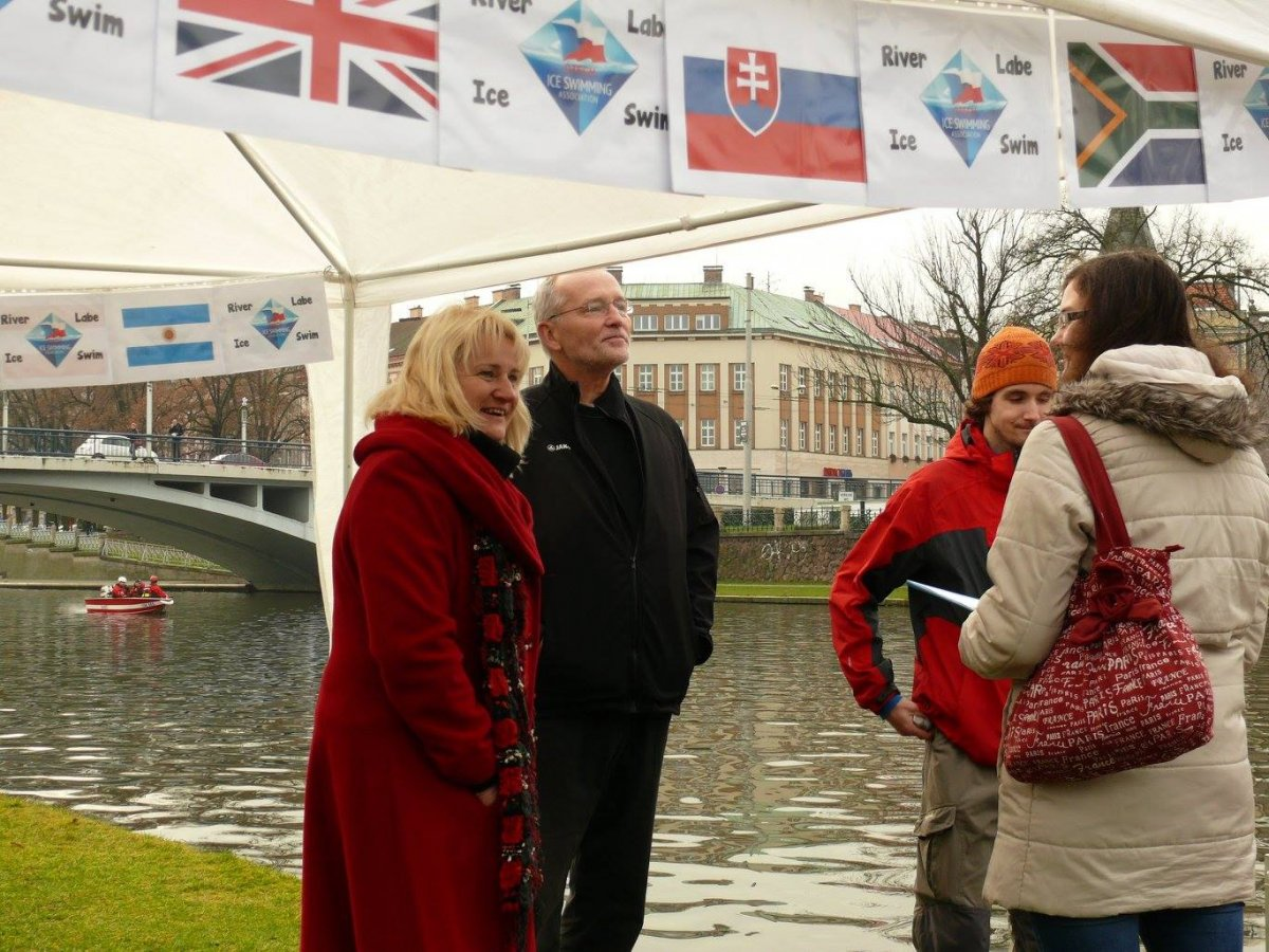 Mayor of the city Zdenek Fink watching the competition, photo courtesy Jana Navratilova