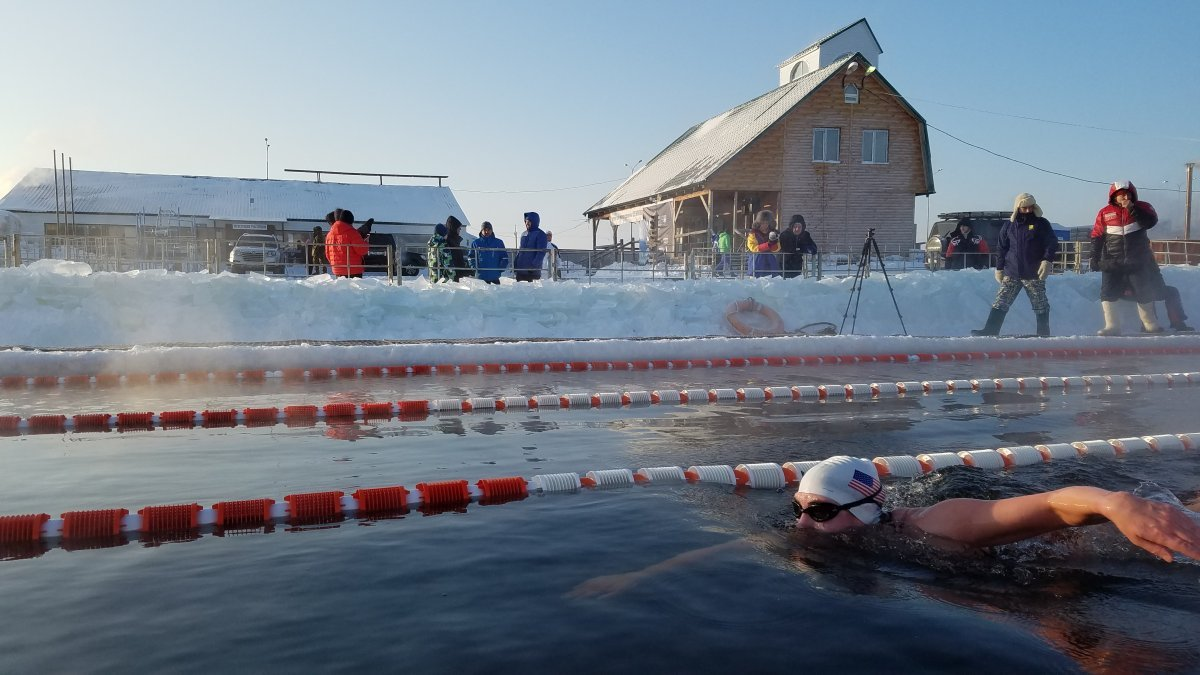 Ice Mile Swim - Jaimie Monahan